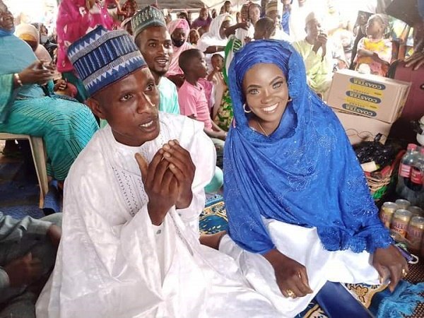 PHOTOS: Blue-eyed Risikat re-weds husband