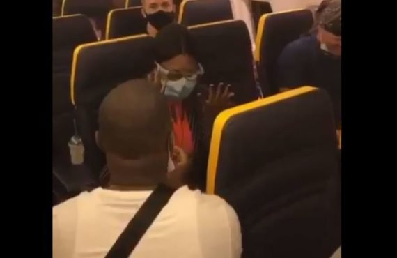 VIDEO: Nigerian man proposes to girlfriend onboard an international flight