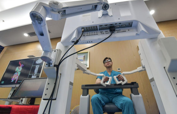 Chinese robot performs long-distance bladder surgery using 5G