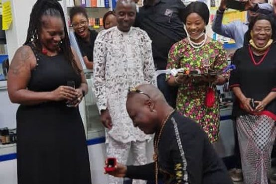 VIDEO: Charly Boy proposes to wife for the 'fourth time…