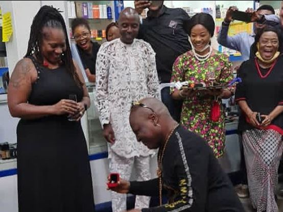 VIDEO: Charly Boy proposes to wife for the 'fourth time in 45 years'