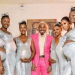 EXTRA: Pretty Mike attends Uchemba's wedding with six pregnant women