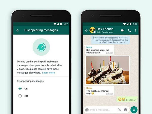 WhatsApp launches 'disappearing messages' feature to allow self-destruct chats