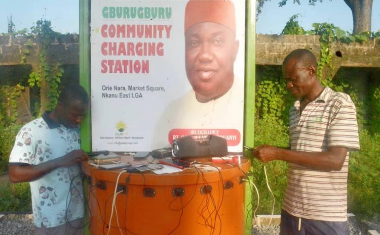 EXTRA: Ugwuanyi begins installation of 'charging stations' in Enugu