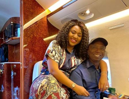 'You're like king Solomon' -- Regina Daniels hails husband on 60th birthday