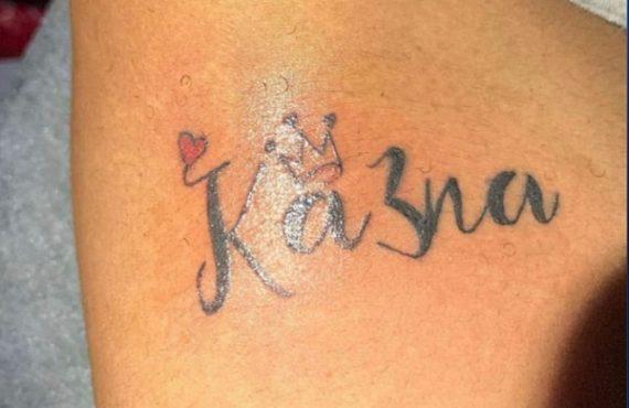 Ka3na berates fan over her name tattoo