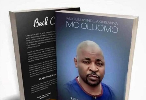reactions as MC Oluomo appears on book cover
