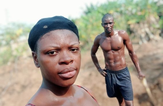 Nigerian couple trend for spending Valentine's Day on their farm