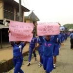 PHOTOS: How students of Rochas Okorocha's school protested in Imo