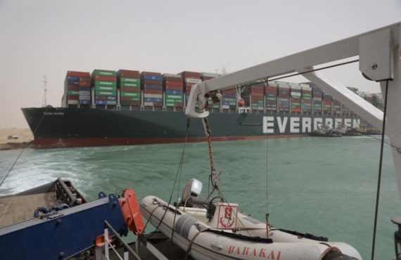 EXTRA: Frustration as ship laden with sex toys stuck in Suez Canal blockage