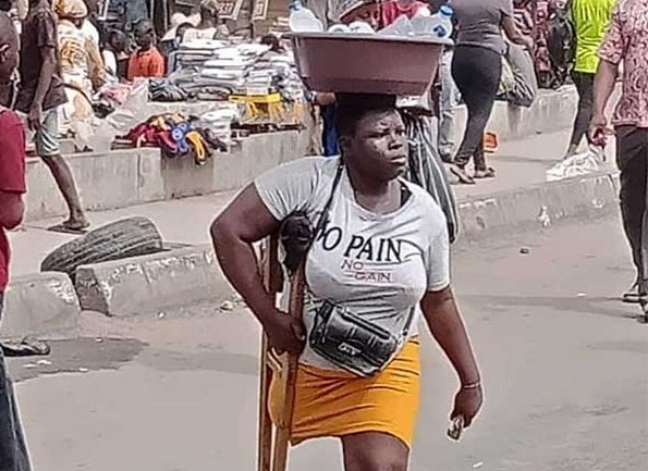 EXCLUSIVE: 'She's lying and embarrassing us' -- family of Lagos amputee hawker breaks silence