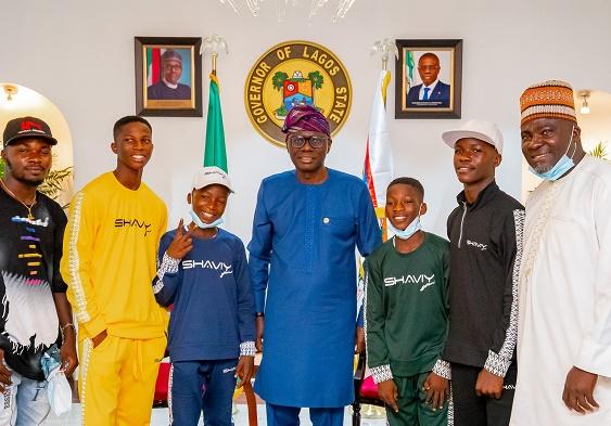 'We're proud of you' -- Sanwo-Olu hosts Ikorodu Bois