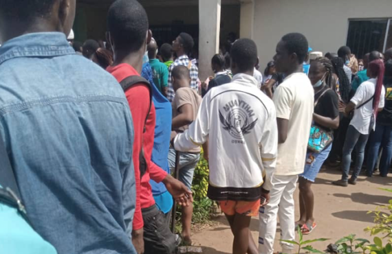 PHOTOS: Long queues at Lagos NIMC office as UTME candidates…