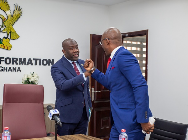 Kayode Akintemi, Ignite media MD, meets Ghana's minister to 'promote pan-African agenda'