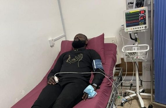 Yomi Casual hospitalised after car accident