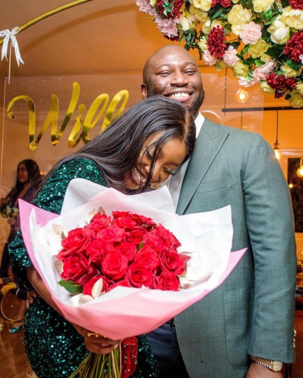 Ini Dima-Okojie engaged to fan who bought her chocolate two years ago