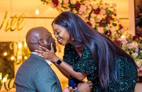 Ini Dima-Okojie engaged to fan who bought her chocolate two…