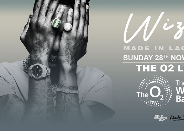 Wizkid announces 02 Arena tour for 'Made In Lagos'