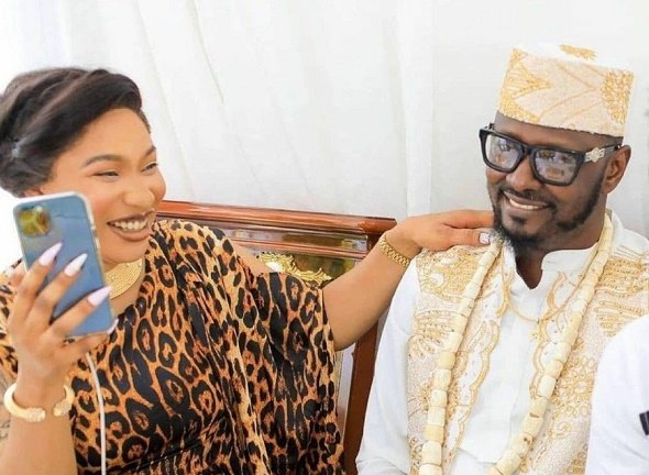 SPOTTED: Tonto Dikeh attends son's graduation with new lover
