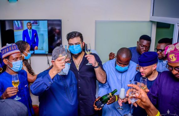 PHOTOS: Woli Arole, Omojuwa turn up as BTDT opens new office in Lagos