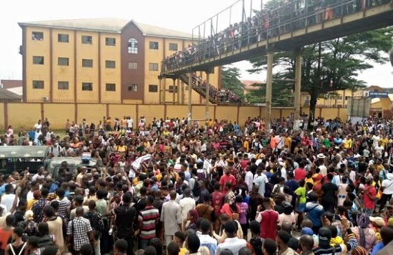Gunshots as Abia Poly students protest rape of colleague 'by…
