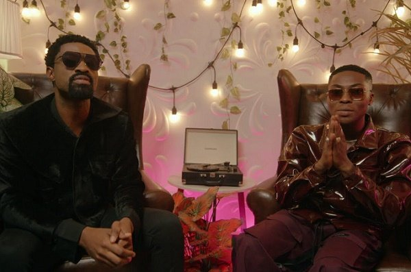 WATCH: Ric Hassani, Reekado Banks croon about love in 'Here' visuals