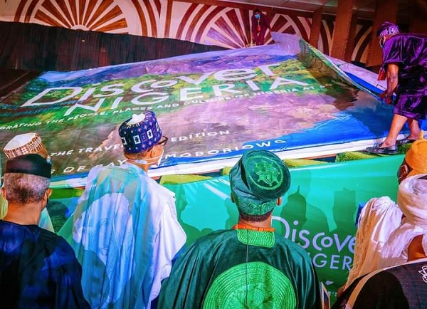 PHOTOS: Buhari unveils 'world's largest pictorial book' on Nigeria's history