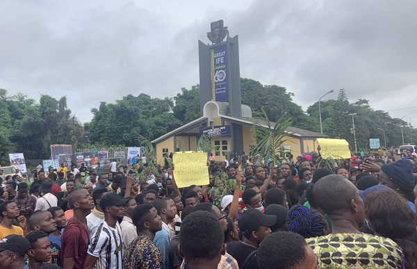 Protest rocks OAU as students blame varsity over colleague's death
