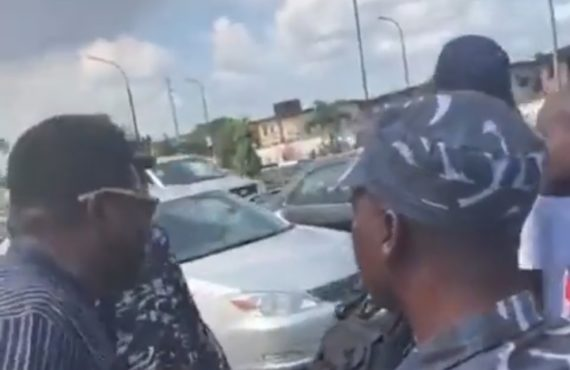 VIDEO: Mr Macaroni confronts police officers accused of extortion