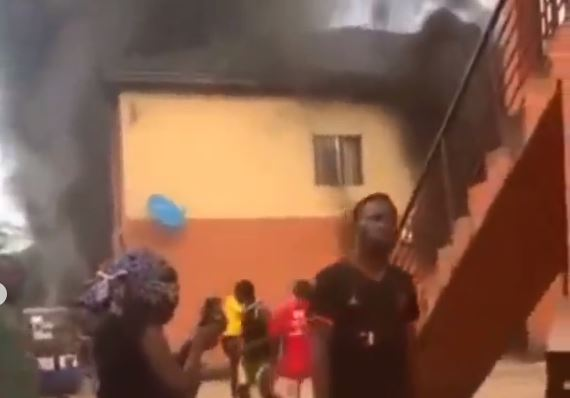 VIDEO: Moment gas exploded while UNIZIK student was on Facebook live